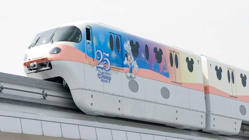 รถไฟโมโนเรลที่ระลึกครบรอบ 25 ปี โตเกียวดิสนีย์รีสอร์ท2
