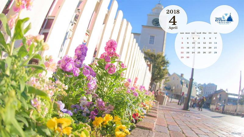 PC Calendar Wallpaper Apr. 2018