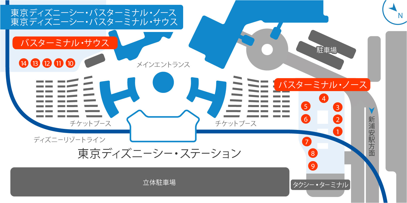 東京ディズニーシー・バス・ターミナルの地図