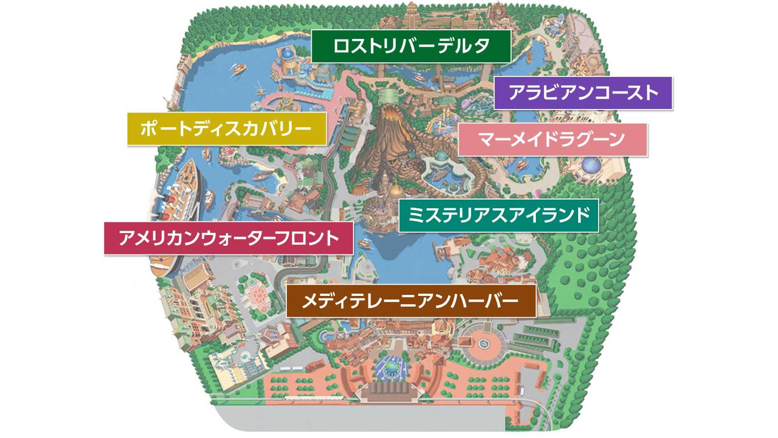 東京ディズニーシーマップ画像