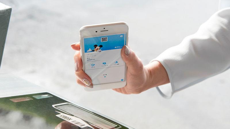 スマートフォンで入園のイメージ