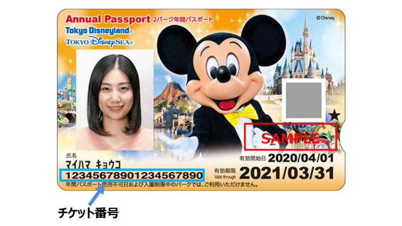 年間パスポート(見本)
